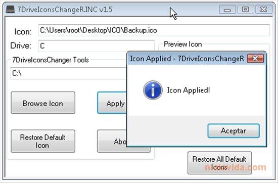7DriveIconsChangeR.INC App Latest Version for PC Windows 10