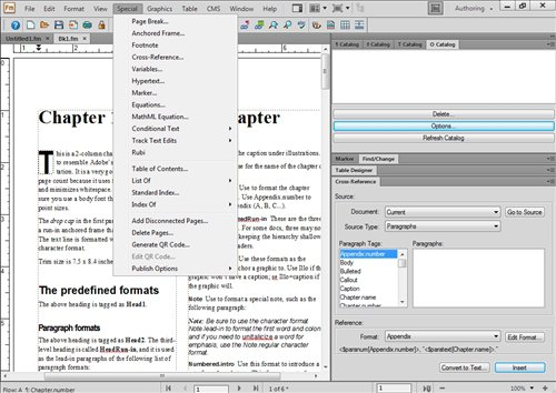 Adobe FrameMaker App Preview