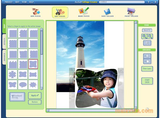 Arcsoft Collage Creator App Latest Version for PC Windows 10