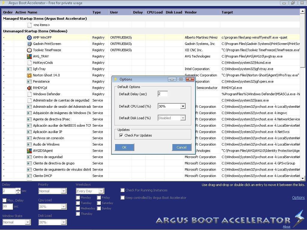 Argus Boot Accelerator App Preview