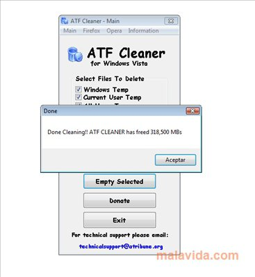 ATF Cleaner App Latest Version for PC Windows 10