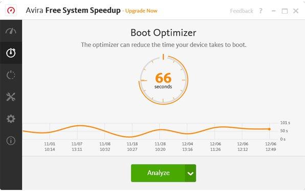 Avira Free System Speedup App Preview