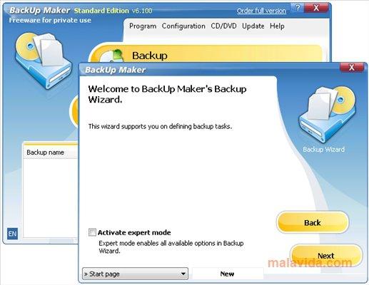 BackUp Maker App Latest Version for PC Windows 10