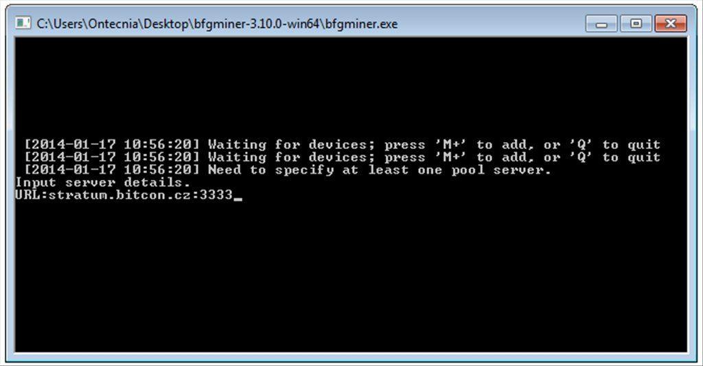 BFGMiner App Latest Version for PC Windows 10