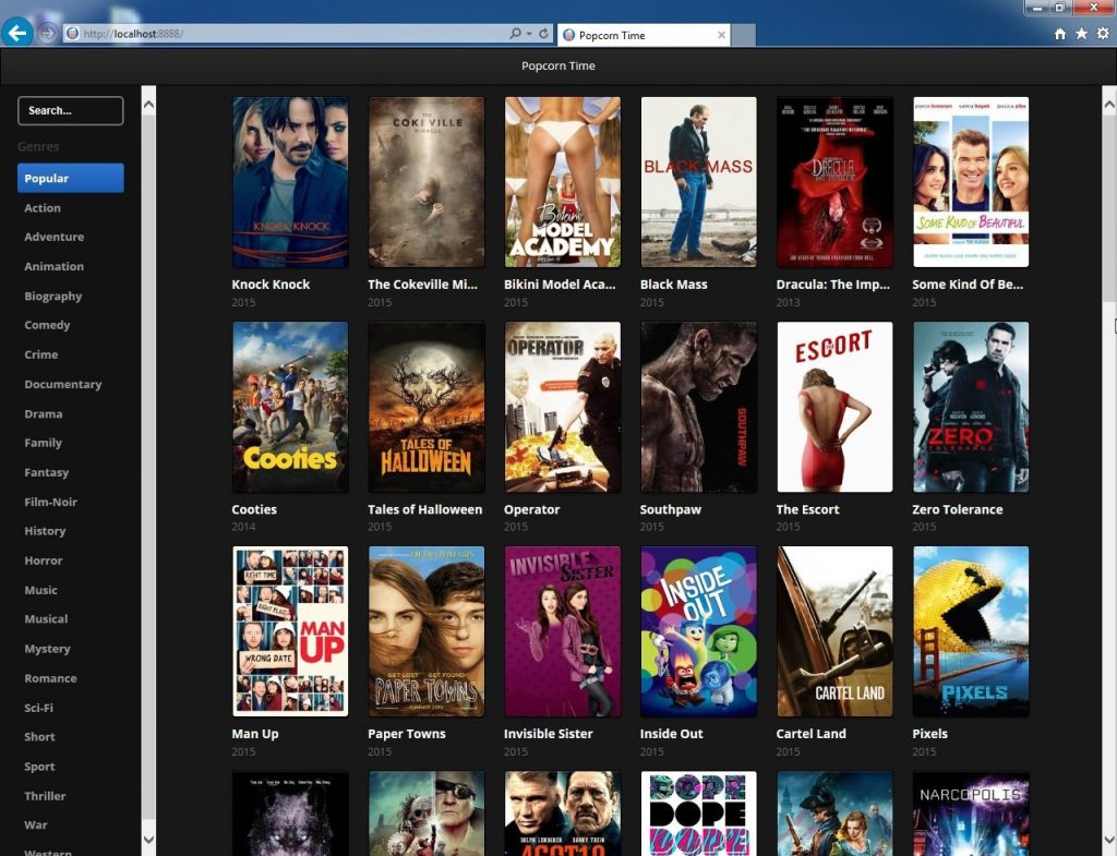 Browser Popcorn App Latest Version for PC Windows 10