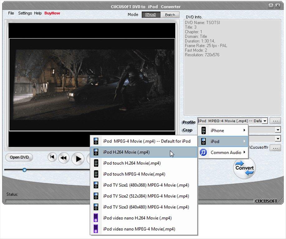 Cucusoft DVD to iPod Converter App Preview