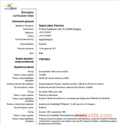 Europass CV App Latest Version for PC Windows 10