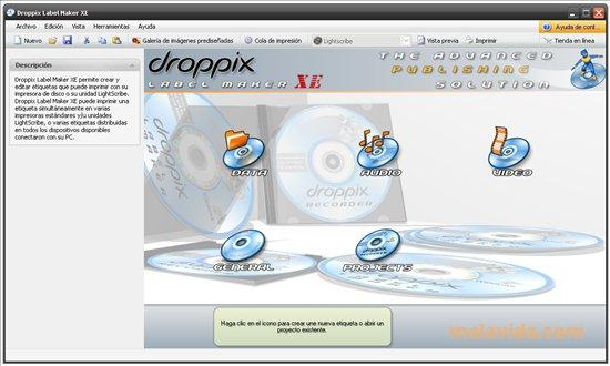 Droppix Label Maker App Preview