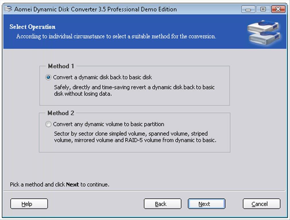 Dynamic Disk Converter App Latest Version for PC Windows 10