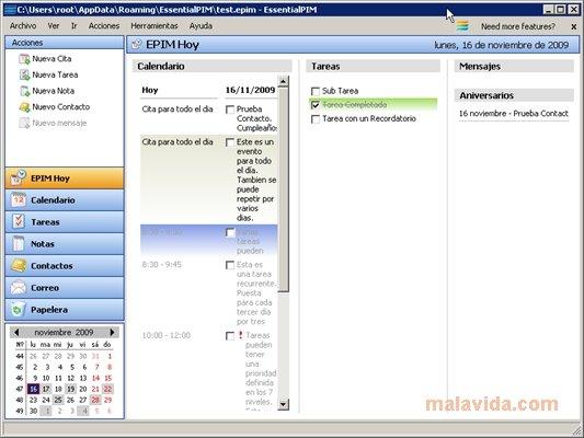 EssentialPIM App Preview