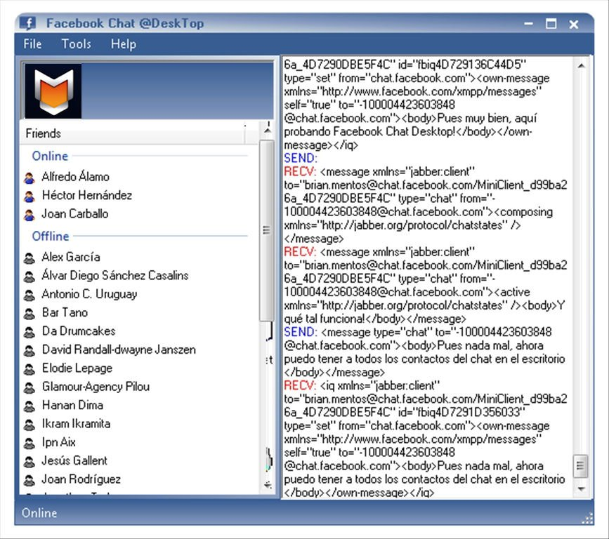 Facebook Chat Desktop App Latest Version for PC Windows 10