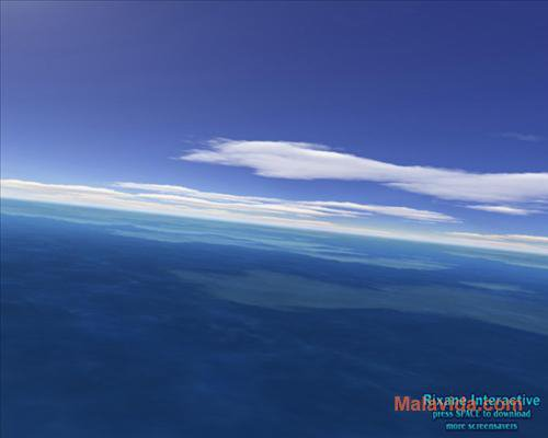 Flight over sea 3D Screensaver App Latest Version for PC Windows 10