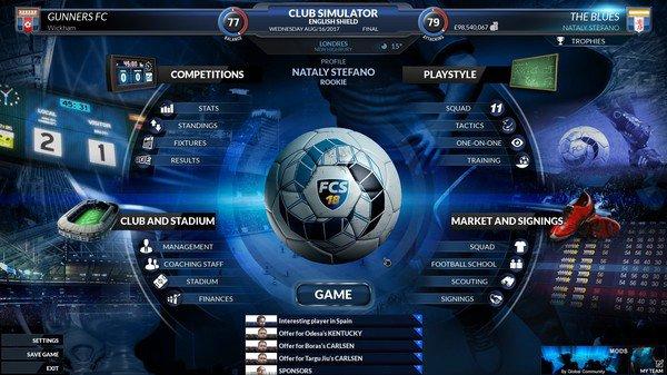 Football Club Simulator - FCS 18 App Preview