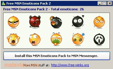 Free MSN Emoticons Pack 2 App Latest Version for PC Windows 10