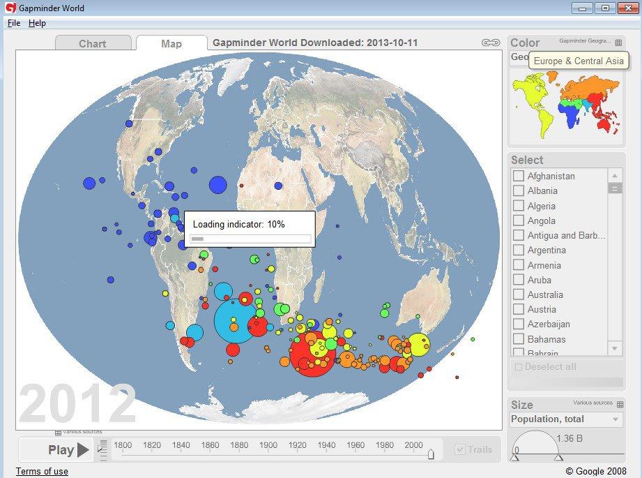 Gapminder World App Latest Version for PC Windows 10