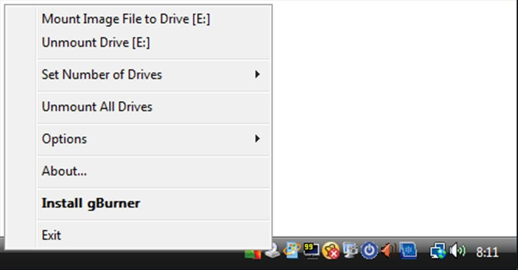 gBurner Virtual Drive App Latest Version for PC Windows 10