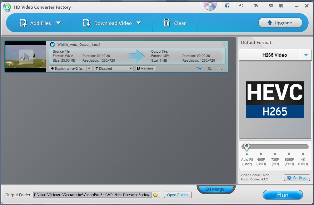HD Video Converter Factory App Preview