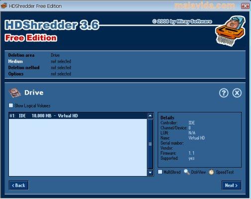 HDShredder App Latest Version for PC Windows 10