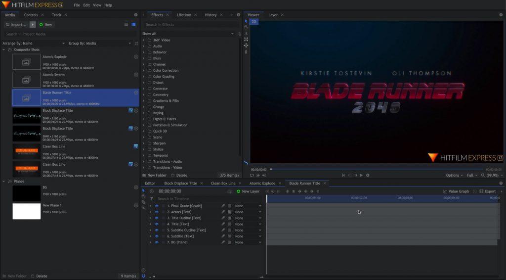 HitFilm Express App Preview