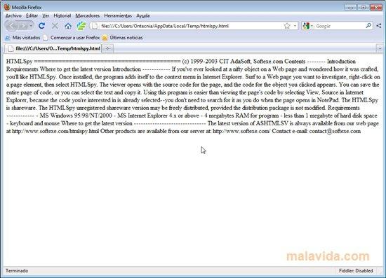 HTMLSpy App Latest Version for PC Windows 10
