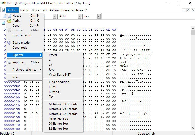 HxD Hex Editor App Latest Version for PC Windows 10