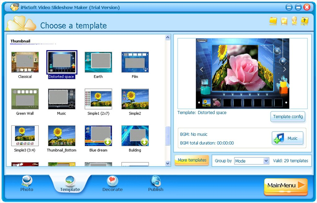 iPixSoft Video Slideshow Maker App Preview