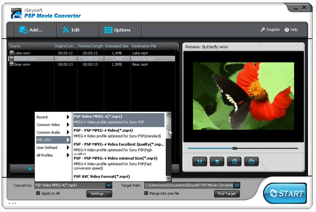 iSkysoft PSP Movie Converter App Latest Version for PC Windows 10