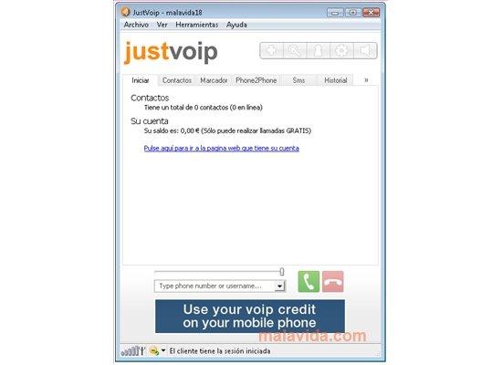 JustVoip App Latest Version for PC Windows 10