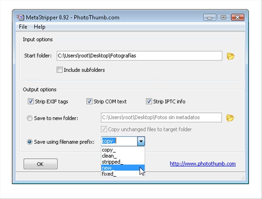 MetaStripper App Latest Version for PC Windows 10