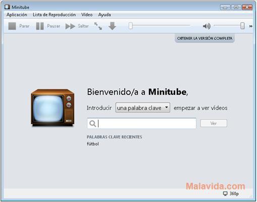 Minitube App Latest Version for PC Windows 10