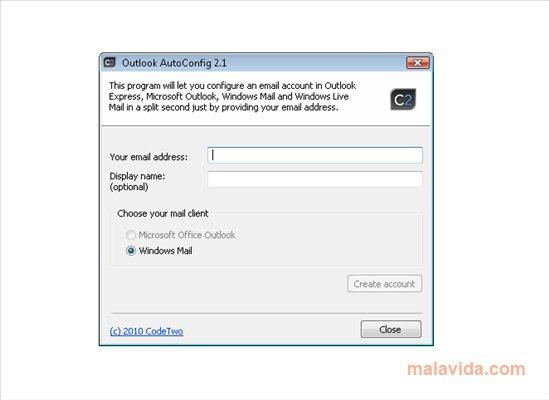 Outlook AutoConfig App Latest Version for PC Windows 10