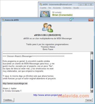 Portable aMSN App Latest Version for PC Windows 10