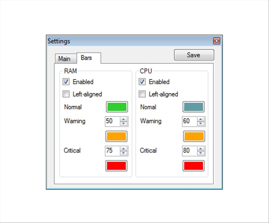 RAM CPU Taskbar App Latest Version for PC Windows 10