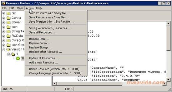 Resource Hacker App Latest Version for PC Windows 10