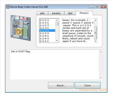 Rizone Beep Codes Viewer App Latest Version for PC Windows 10
