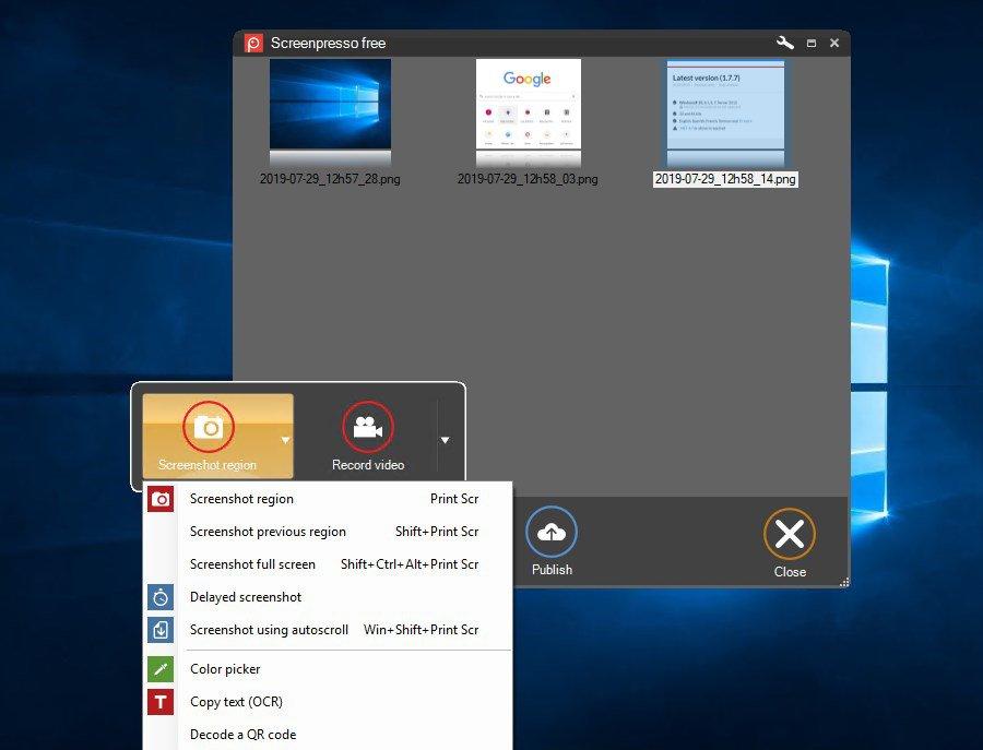 Screenpresso App Latest Version for PC Windows 10