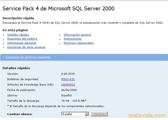 SQL Server 2000 SP4 App Preview