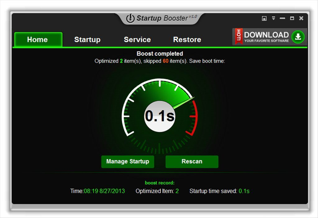Startup Booster App Latest Version for PC Windows 10