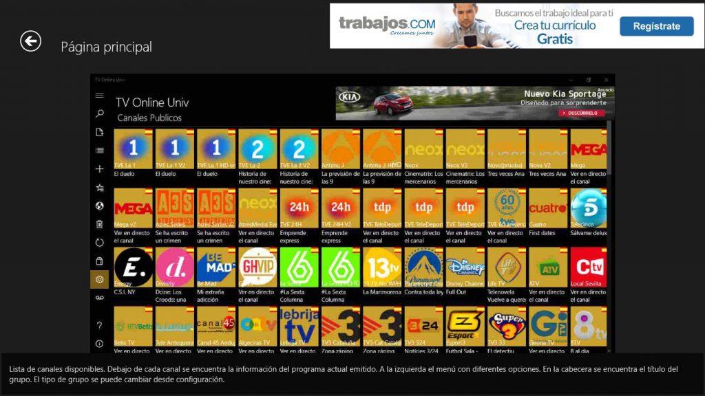 TV Online Univ App Preview