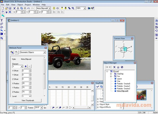 Ulead COOL 3D Production Studio App Latest Version for PC Windows 10