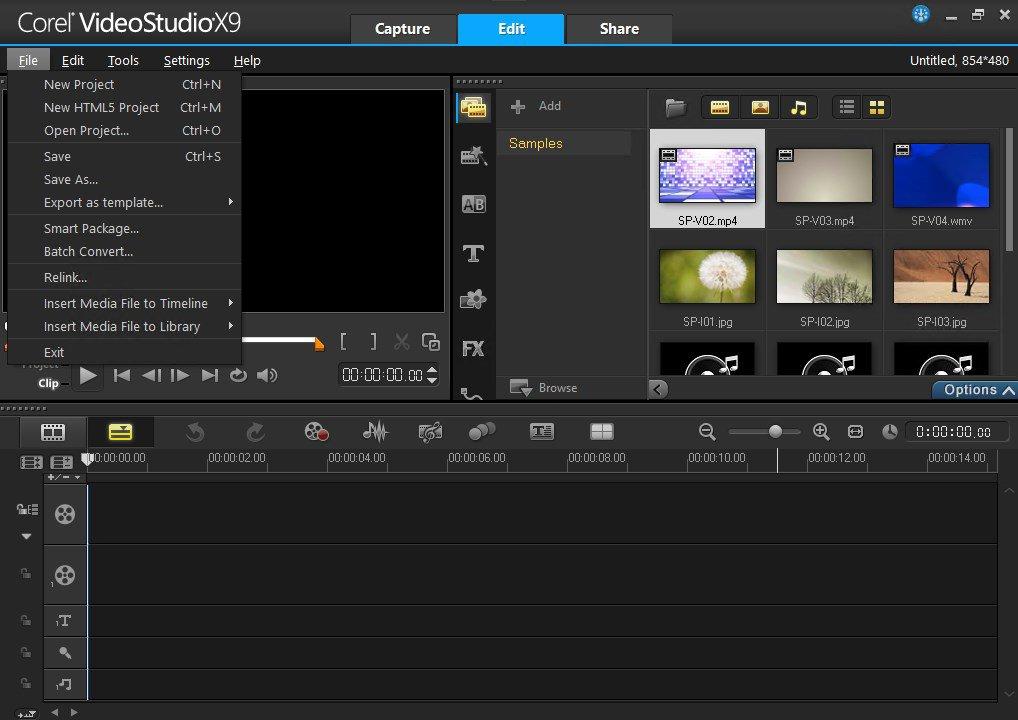 Ulead VideoStudio App Preview