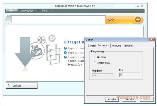 UltraGet Video Downloader App Latest Version for PC Windows 10