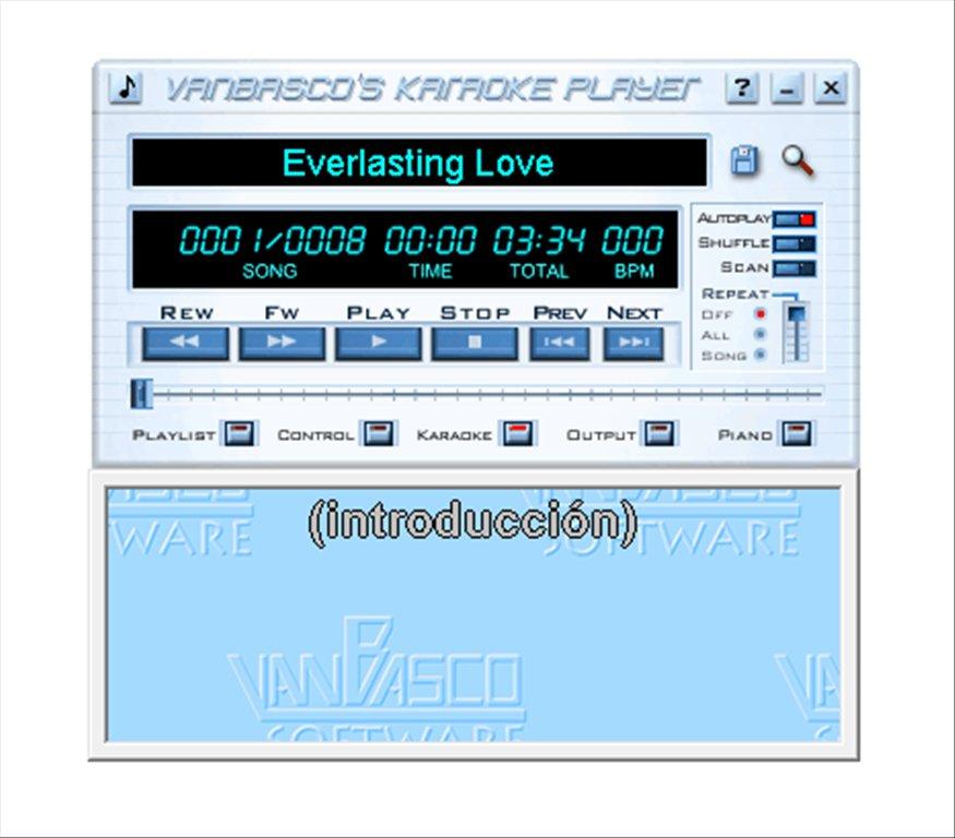 vanBasco Karaoke Player App Latest Version for PC Windows 10