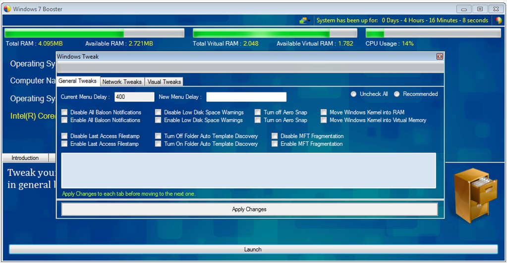 Windows 7 Booster App Latest Version for PC Windows 10