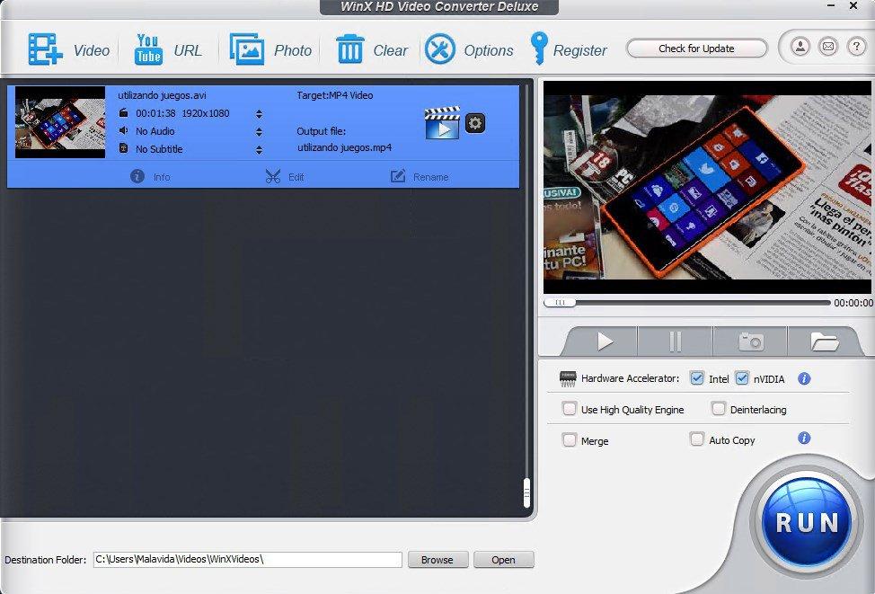 WinX HD Video Converter App Latest Version for PC Windows 10