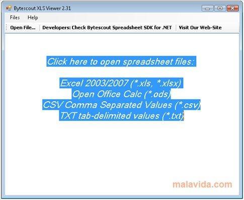 XLS Viewer App Latest Version for PC Windows 10
