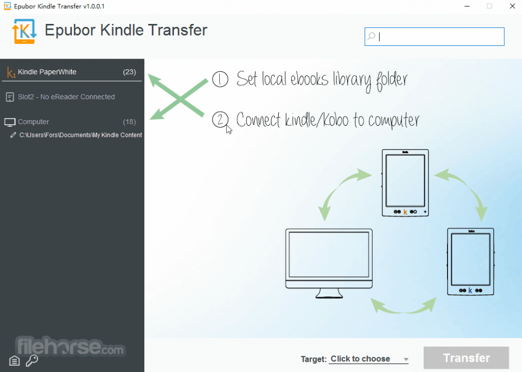 Epubor Kindle Transfer App for PC Windows 10 Last Version