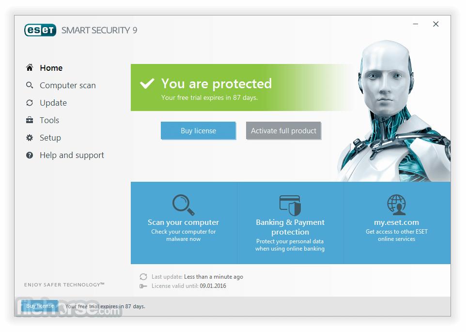 ESET Smart Security (32-bit) App for PC Windows 10 Last Version