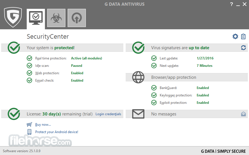 G DATA AntiVirus App for PC Windows 10 Last Version