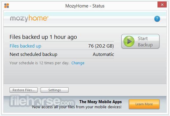 Mozy Home App for PC Windows 10 Last Version